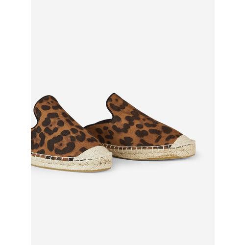 DOROTHY PERKINS Women Brown Leopard Print Espradille Mules