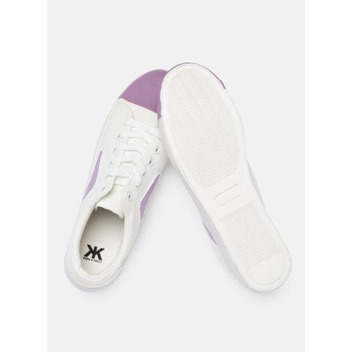 Kook N Keech White Canvas Regular Sneakers