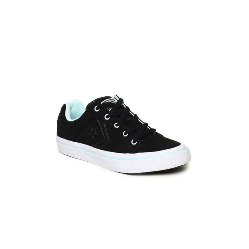 Converse Black Canvas Regular Sneakers