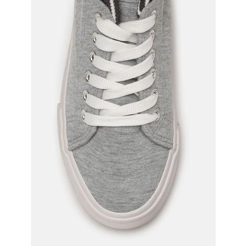 DressBerry Grey Synthetic Regular Sneakers
