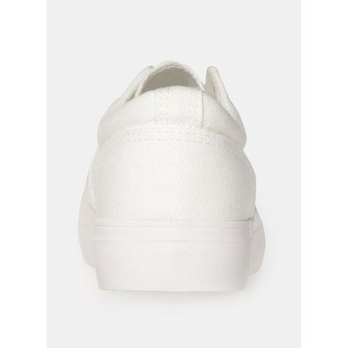Kook N Keech Off White Canvas Regular Sneakers