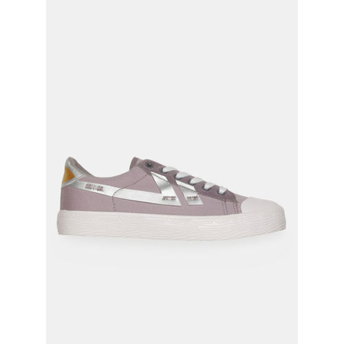 Kook N Keech Purple Canvas Regular Sneakers