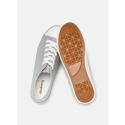 DressBerry Silver Synthetic Regular Sneakers