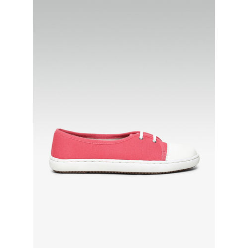 Carlton London Pink Canvas Regular Sneakers
