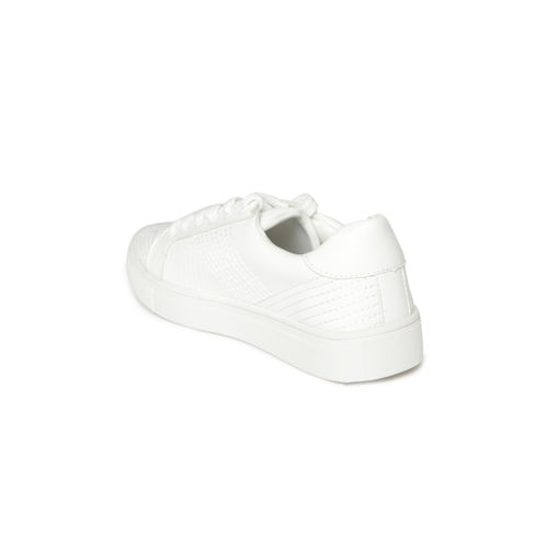 Jove White Thread Work Sneakers