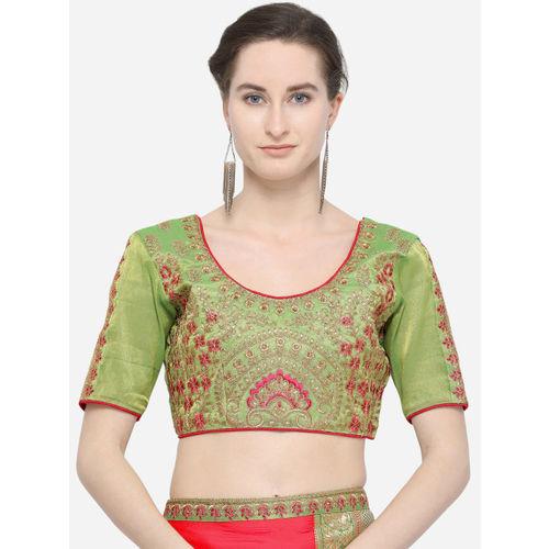 Indian Women Pink Poly Silk Solid Saree