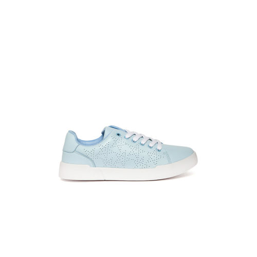 Jove Blue Perforated Sneakers