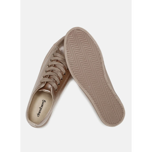 DressBerry Rose Gold Regular Synthetic Sneakers