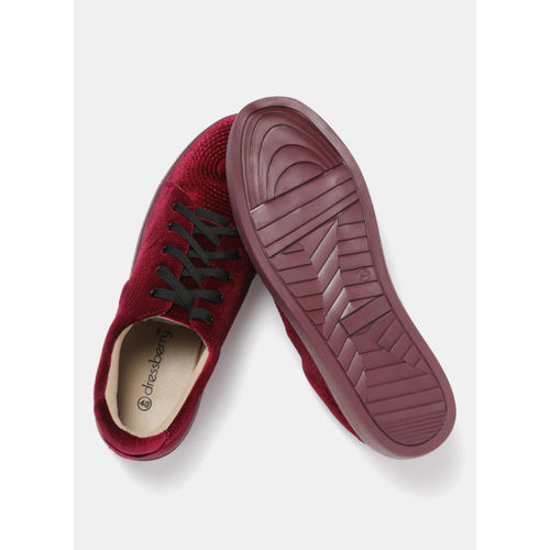 DressBerry Maroon Regular Synthetic Sneakers