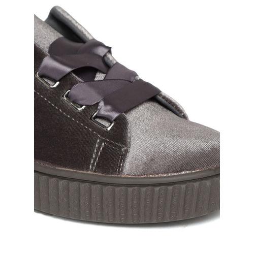 Jove Grey Velvet Finish Sneakers