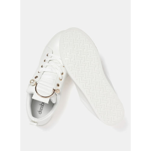 DressBerry White Regular Synthetic Sneakers