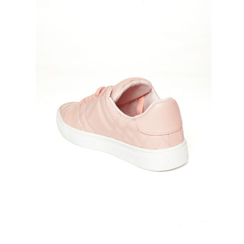 Jove Pink Quilted Sneakers