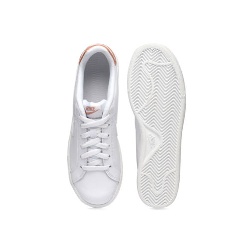 Nike Women White Court Royale Leather Sneakers