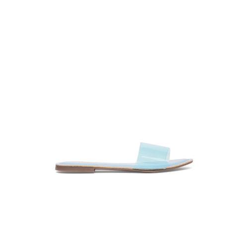 Catwalk Women Blue Solid Open Toe Flats