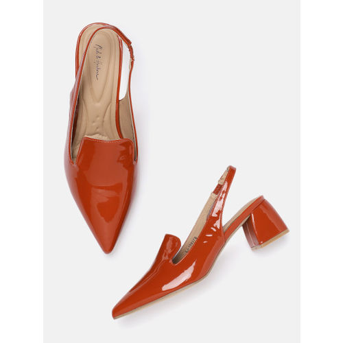 Mast & Harbour Women Rust Solid Pumps