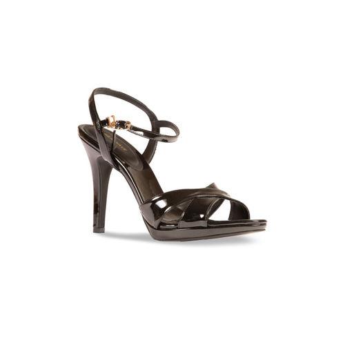 HEATWAVE Women Black Solid Sandals