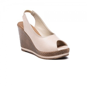 Bruno Manetti Beige (3193) Faux Leather Wedges