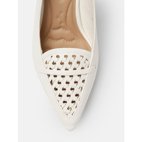 Mast & Harbour Women White Solid Heels