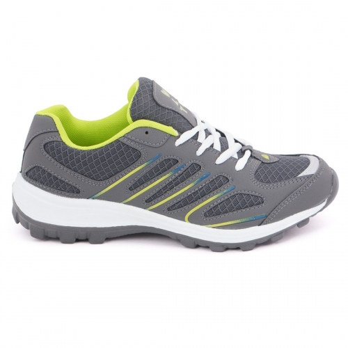 ASIAN Grey Mesh Lace-up Running Shoes