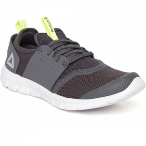 REEBOK Grey Mesh Sports Running Shoes For Men