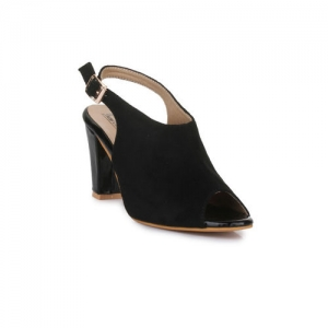 Bruno Manetti Women Black Solid Peep Toes