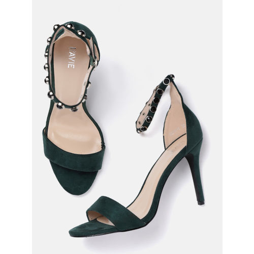 Lavie Women Green Solid Heels