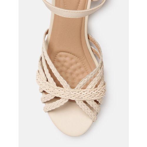 Mast & Harbour Women Beige Solid Heels