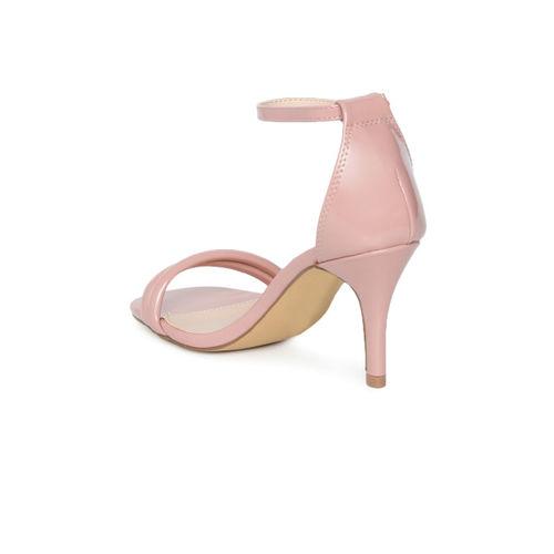 CERIZ Women Pink Solid Sandals