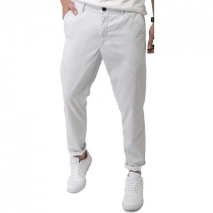 Mast & Harbour Slim Fit Men White, Grey Trousers