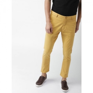 Mast & Harbour Regular Fit Men Yellow Trousers