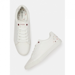 Mast & Harbour White Lace Up Sneakers