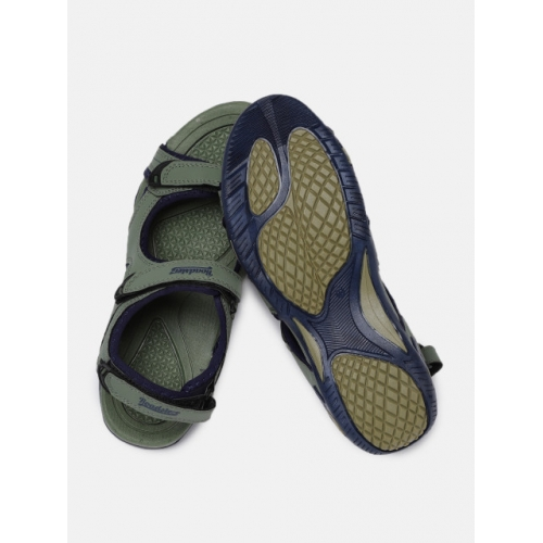 Roadster Men Green Synthetic Sports Sandals