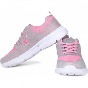 Sparx Pink Synthetic Lace Up Running Shoes