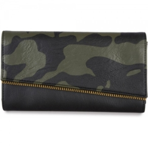 Baggit Black & Green Artificial Leather Wallet