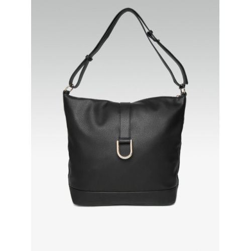 DOROTHY PERKINS Black Solid Shoulder Bag