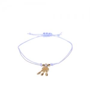 Accessorize Lavender Gold-Plated Charm Bracelet