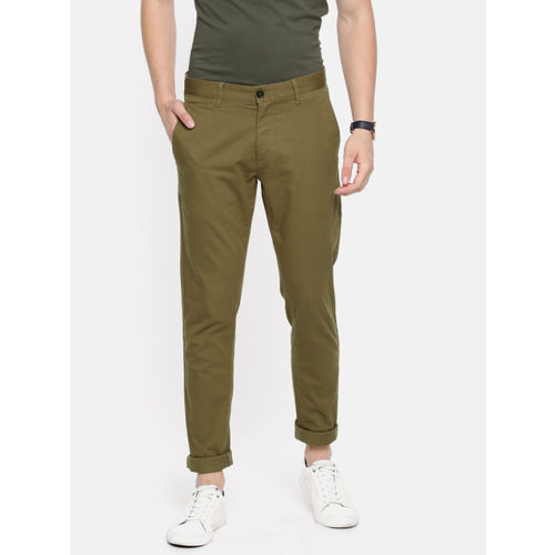 U.S. Polo Assn. Men Brown Slim Fit Solid Chinos