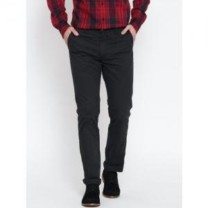 U.S. Polo Assn. Men Black Slim Fit Trousers