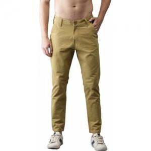 Moda Rapido Slim Fit Men Brown Trousers
