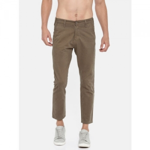 Moda Rapido Men Brown Slim Fit Solid Cropped Chinos
