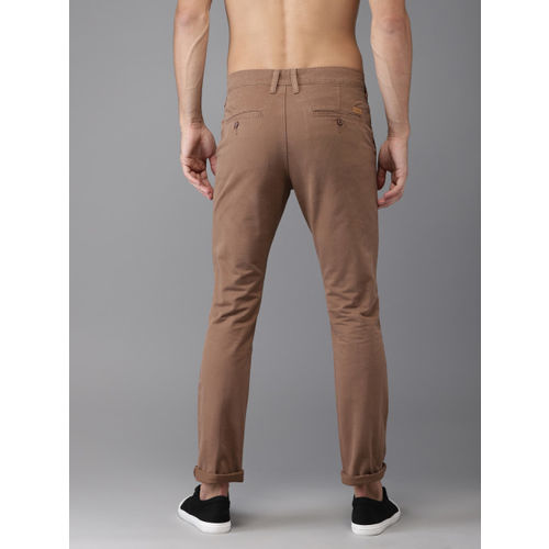 Moda Rapido Men Brown Slim Fit Solid Chinos