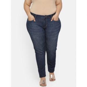 aLL Women Blue Slim Fit Mid-Rise Clean Look Stretchable Jeans