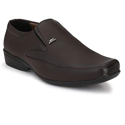 Stylelure Brown Synthetic Leather Slip On Formal Shoes