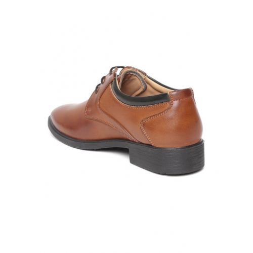 Duke Tan Brown Solid Semi-Formal Derbys