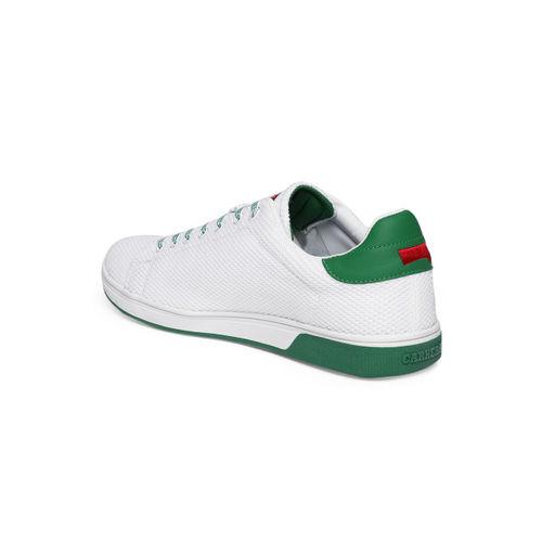 Carrera Men White & Green Sneakers