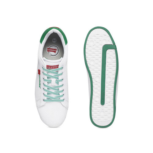 Carrera Men White & Green Sneakers