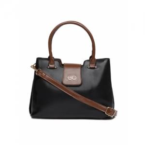 E2O Black Solid Handheld Bag