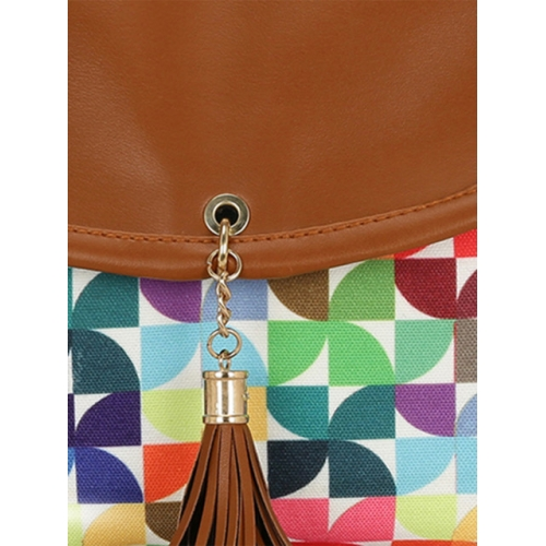 KLEIO Multicoloured Printed Sling Bag
