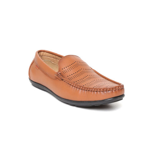 Duke Men Tan Brown Perforated Loafers