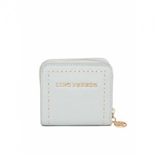 Lino Perros Women Blue Solid Zip Around Wallet